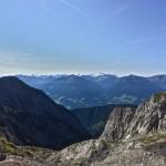 Blick auf die Ötztaler und Stubaier Alpen
