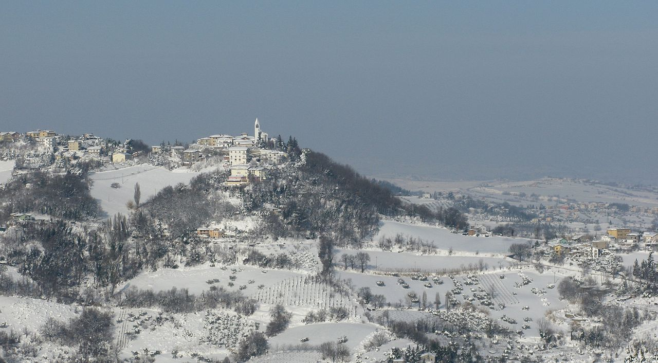 Gemmano, Emilia-Romagna, südlich Rimini, am 9. Februar