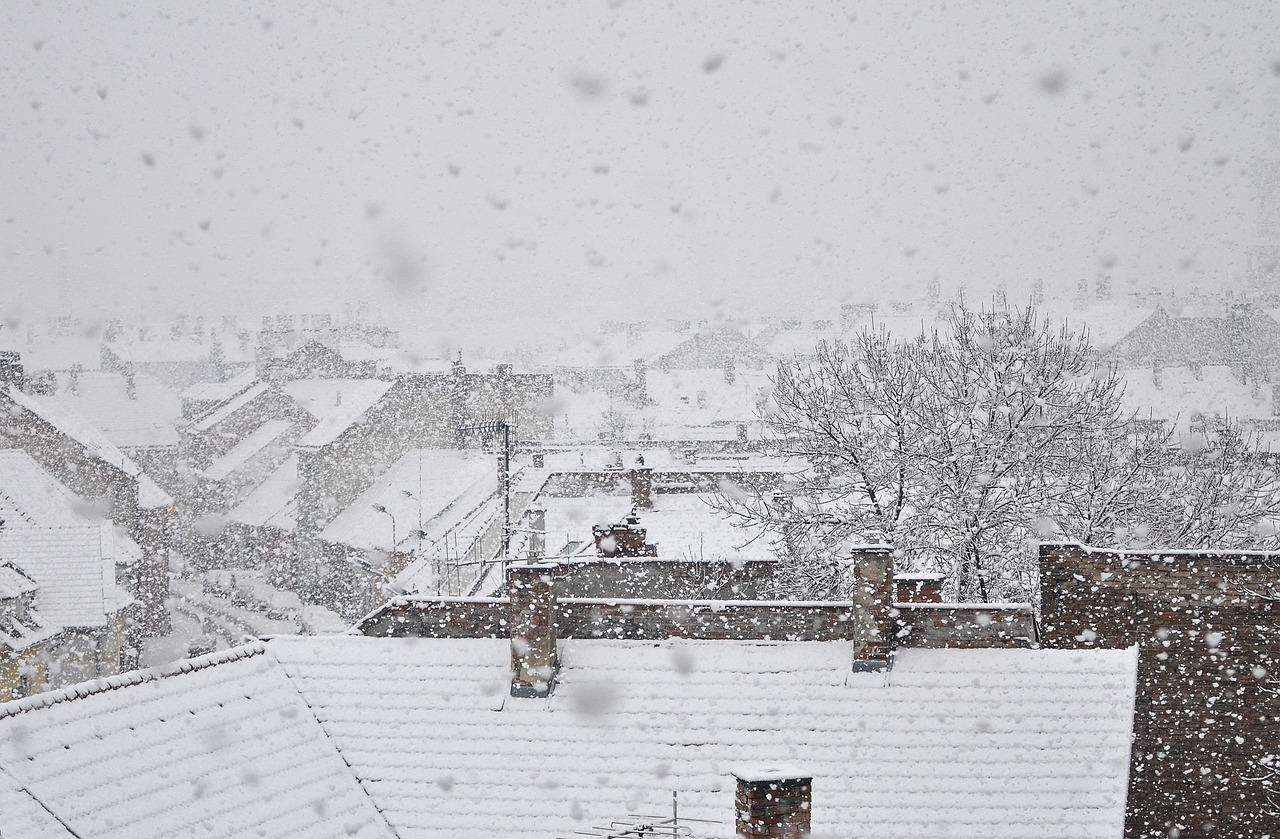 Schneereicher Winter in Györ