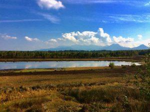 Radtour durch dem Grund des Rosenheimer Sees